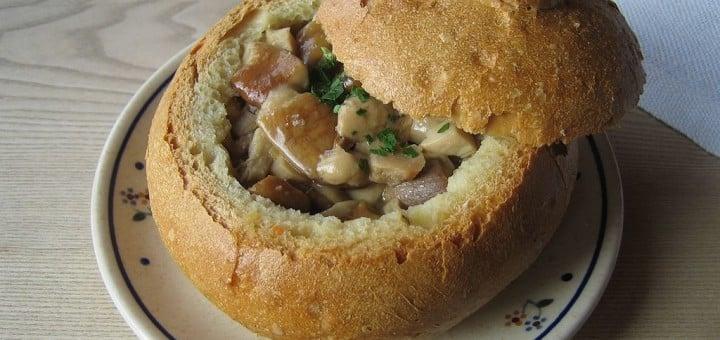 bramboračka s houbami recept