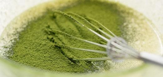 matcha zelený čaj v prášku